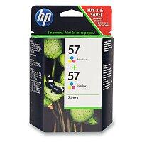 2x cartridge HP C6657A - color č. 57 (barevná) pro inkoustové tiskárny