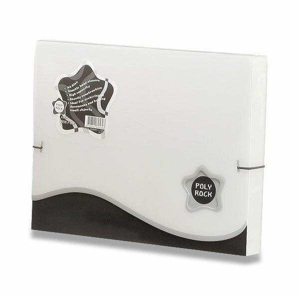 Box na dokumenty Poly Rock - A4 bílý