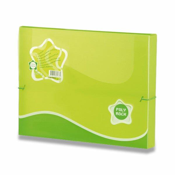 Box na dokumenty Poly Rock - A4 zelený