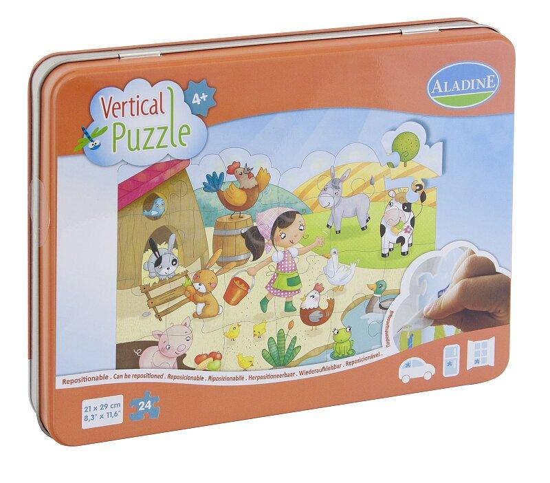 Vertikální okenní puzzle Aladin Farma, 24 dílků