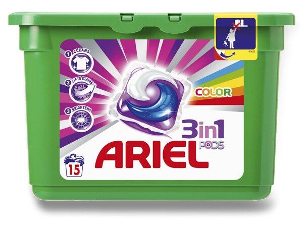 Gelové kapsle na praní Ariel Color 15 kapslí