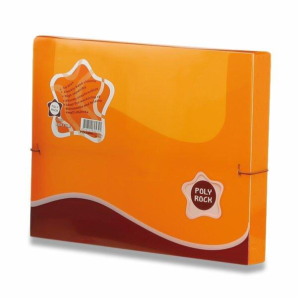 Box na dokumenty Poly Rock - A4 oranžový