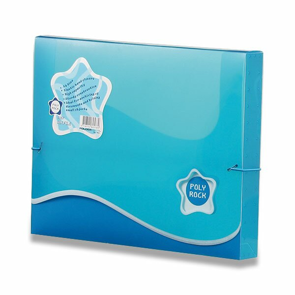 Box na dokumenty Poly Rock - A4 modrý