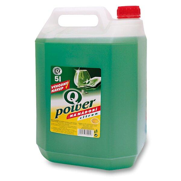 Prostředek na mytí nádobí Q - power 5 l, citron