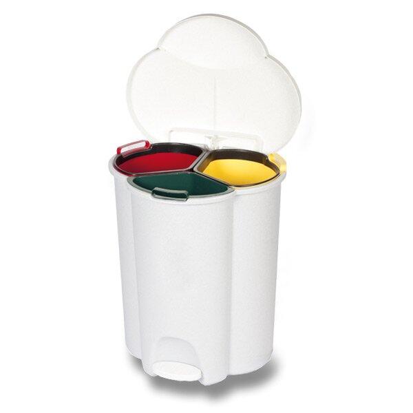 Odpadkový koš Rubbermaid Trio 3 nádoby, 17l + 17 l + 6 l