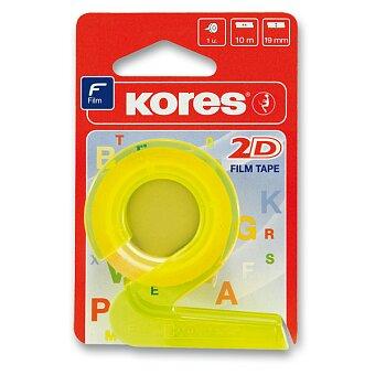 Obrázek produktu Samolepicí páska Kores 2D - 19 mm x 10 m, s odvíječem