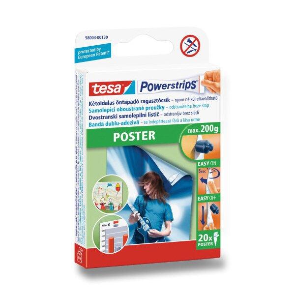 Lepící výseky na plakáty a tiskoviny Tesa Poster Strip 20 ks