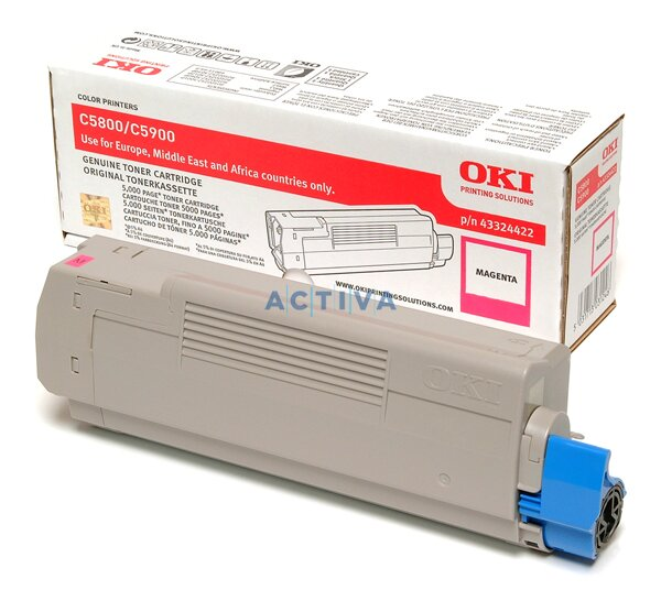 Toner OKI C5800 / C5900 pro laserové tiskárny magenta (červený)
