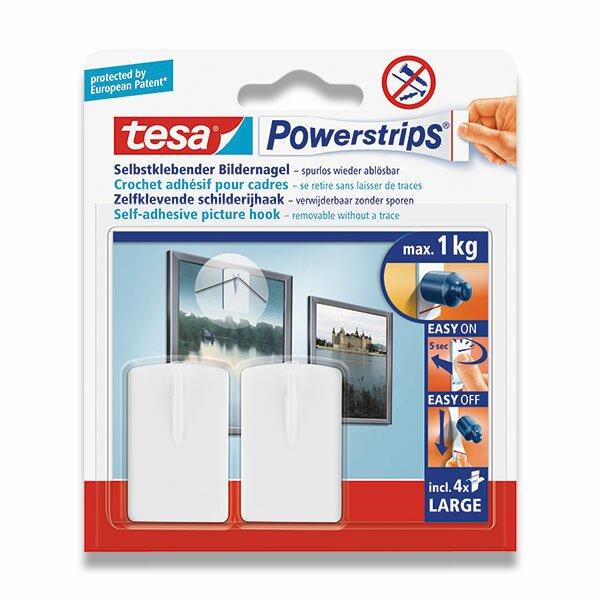 Lepící háčky Tesa Powerstrips bílé, 2 ks