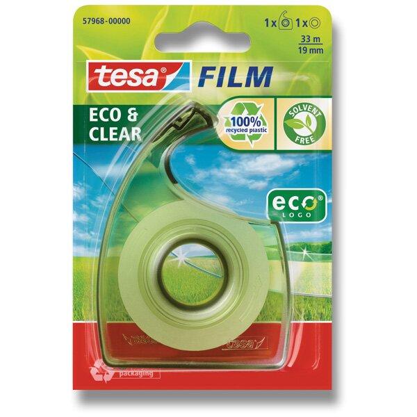 Lepící páska s odvíječem Tesa Film EcoClear šíře 19 mm, návin 33 m