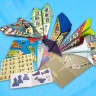 5 různých vlaštovek z papíru