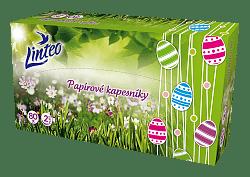 Papírové kapesníčky Linteo v boxu s velikonočním motivem
