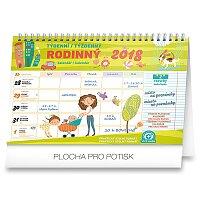 Týdenní rodinný plánovací kalendář 2018