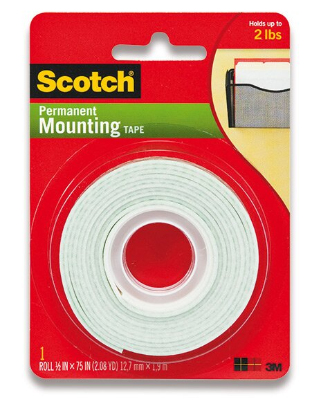 Oboustranná pěnová páska 3M Scotch Mounting Tape 12 mm x 1,9 m