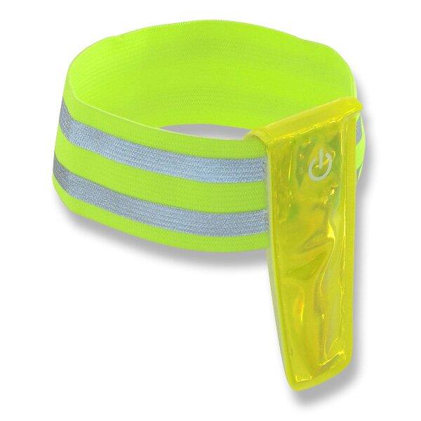 Pásek reflexní 4LED na ruku žlutý