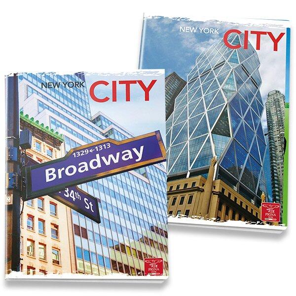Školní sešit Pigna City A4, linkovaný, 40 listů, mix motivů