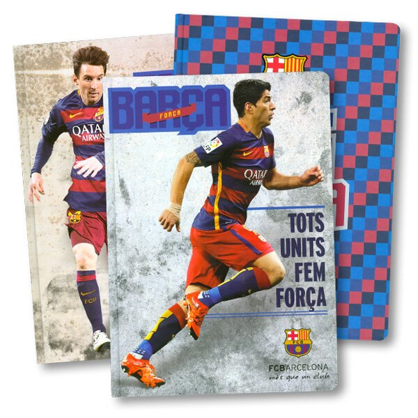 Záznamní kniha FCB Barcelona A4, linkovaná, 96 listů, mix motivů
