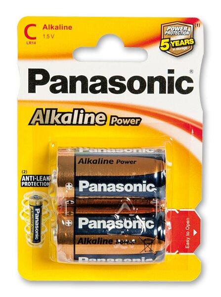 Baterie Panasonic Alkaline Power C, 2 ks