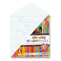 Puzzle Namaluj si sám - domeček