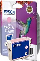 Cartridge Epson T080640  light magenta (červená) pro inkoustové tiskárny