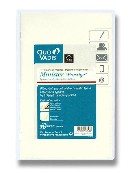 Diář Quo Vadis Prestige Minister A5, náhradní náplň