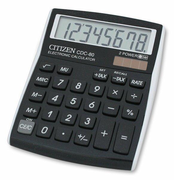 Stolní kalkulátor Citizen CDC-80 černý