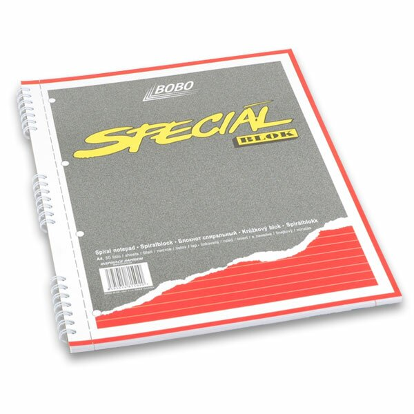 Kroužkový blok Bobo Speciál A4, linkovaný, 50 listů