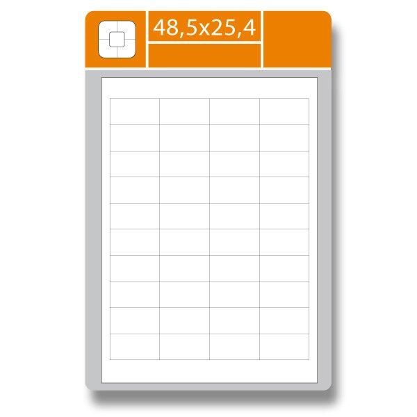 Samolepící etikety SK Label Gloss 48,5 × 25,4 mm