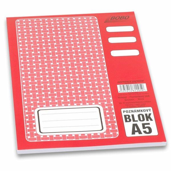 Lepený blok Bobo A5, linkovaný, 50 listů