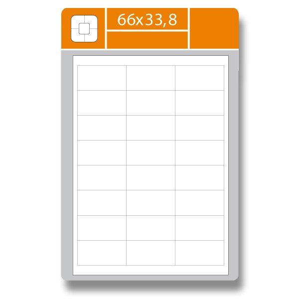 Samolepící etikety SK Label Gloss 66 × 33,8 mm
