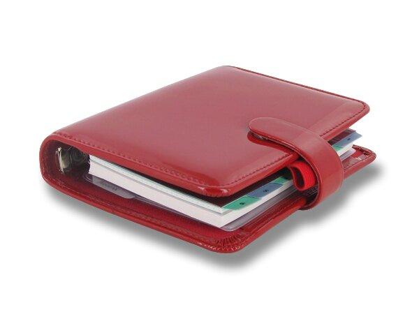 Kapesní diář Filofax Patent 81 x 120 mm, červený