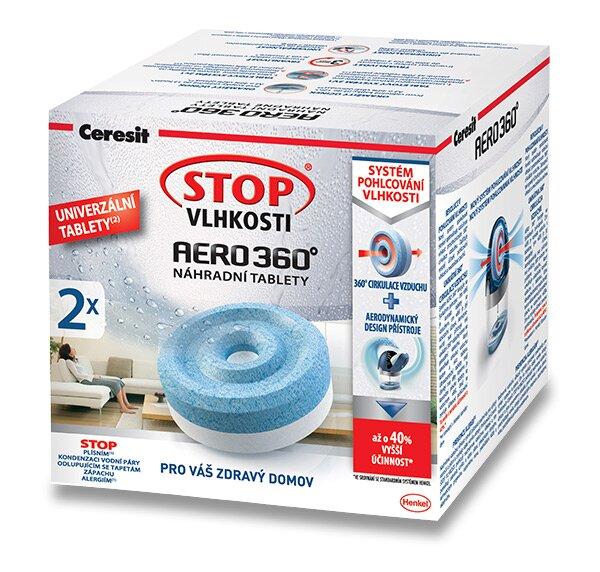 Náhradní tablety Ceresit Stop AERO 360° 2 x 450 g, bez parfemace