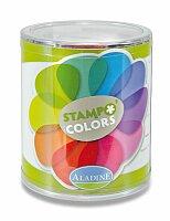 Razítkové barevné polštářky - Jaro