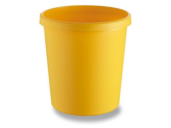 Odpadkový koš Helit žlutý