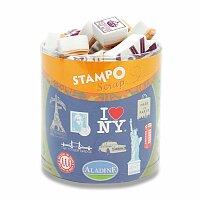 Razítka Stampo Scrap - Londýn, New York, Paříž