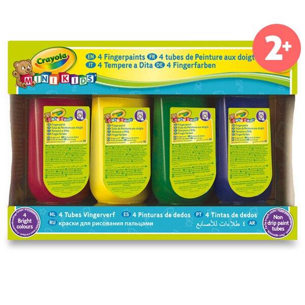 Prstové barvy Crayola Mini Kids 4 barvy, 147 ml