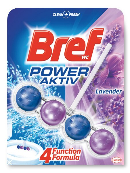 Připravek na toalety Bref Power Aktiv levander
