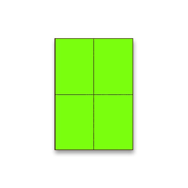 Barevné samolepicí etikety Rayfilm Color fluo zelené