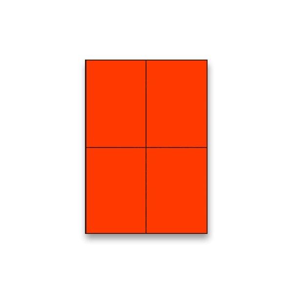 Barevné samolepicí etikety Rayfilm Color fluo červené
