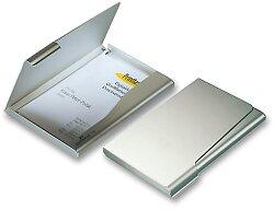 Zásobník na vizitky Durable - stříbrný