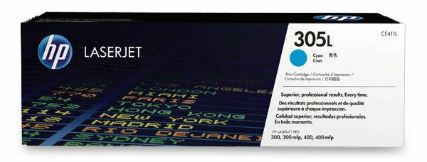 Toner HP CE411L economy pro laserové tiskárny cyan (modrý)