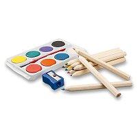 Ostade - sada pastelek, vodových barev a štětce
