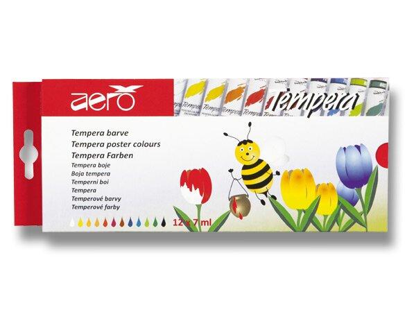 Temperové barvy Aero 12 barev, tuba 7 ml