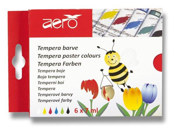 Temperové barvy Aero 6 barev, tuba 7 ml