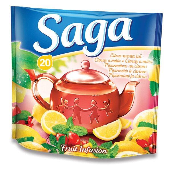 Ovocný čaj Saga Citrusy a máta 20 sáčků