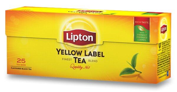 Černý čaj Lipton - Yellow Label Tea 25 sáčků