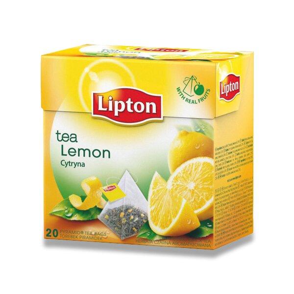 Černý čaj pyramida Lipton Lemon Tea 20 sáčků