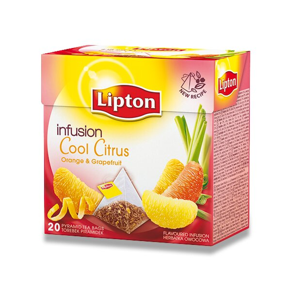 Ovocný čaj Lipton Green Infusion Cool Citrus 20 sáčků 20 sáčků