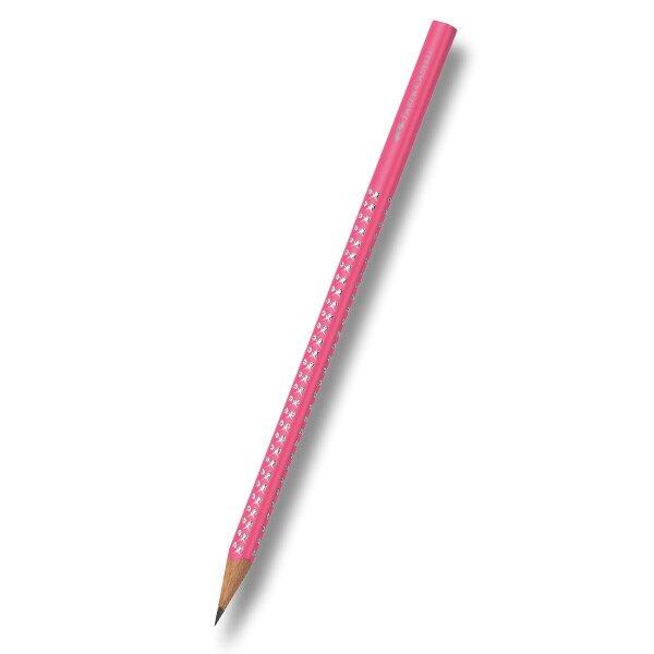 Grafitová tužka Faber-Castell - Sparkle Neon růžová