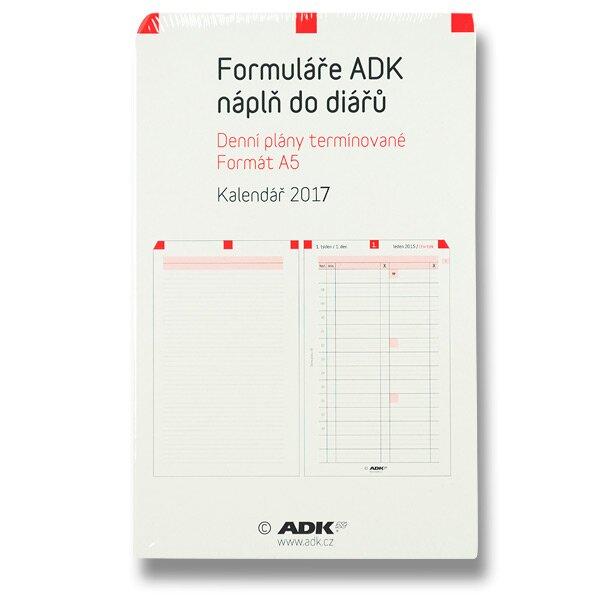 Denní plány termínované ADK 2017 náplň k A5 diářům ADK